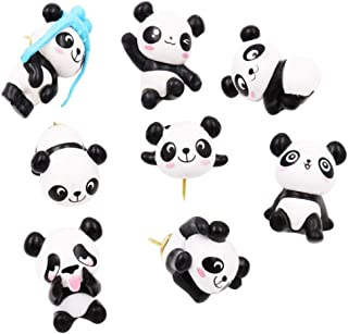 KOTU 16 Pcs Decorative Thumbtacks 3D Panda Pushpins for Feature Wall, Whiteboard, Corkboard, Photo Wall