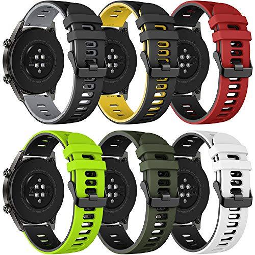Songsier Correa Compatible con Huawei Watch GT2 Pro 46mm/Watch GT 46mm/Watch GT Active/Watch 2 Pro/Galaxy Watch 3 45mm/Galaxy Watch 46mm/Gear S3/Gear 2, Correa de Repuesto de 22 mm