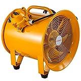 Mophorn Baulüfter 12 Zoll Axialventilator explosionsgeschütztes Axialgebläse Bauventilator 500W Windmaschine tragbar