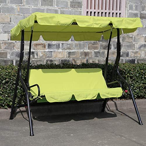 YDLOP Silla Mecedora Doble para Exteriores, sillón de Hierro Forjado Impermeable 1130-YY (Color : B)