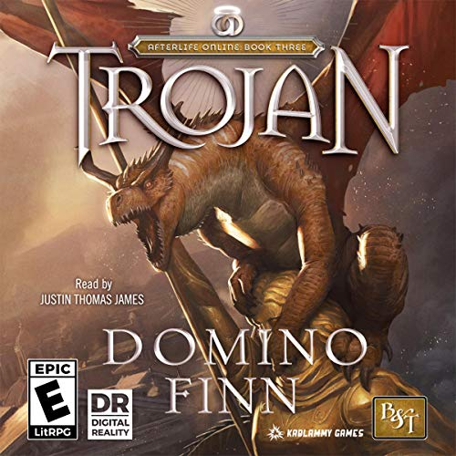 Trojan     Afterlife Online, Book 3              By:                                                                                                                                 Domino Finn                               Narrated by:                                                                                                                                 Justin Thomas James                      Length: 13 hrs and 23 mins     12 ratings     Overall 4.8