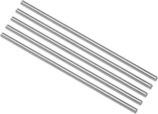 uxcell Round Steel Rod, 3mm HSS Lathe Bar Stock Tool 100mm Long, for Shaft Gear Drill Lathes Boring Machine Turning Miniat...