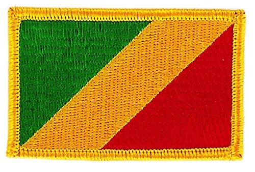 Aufnäher Patch bestickt, Flagge Republik Kongo BW backpack zum Aufbügeln
