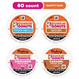 Dunkin' K-Cup Coffee Pods for Keurig Coffee Makers, Mixed Flavor Variety Pack, 60-Count