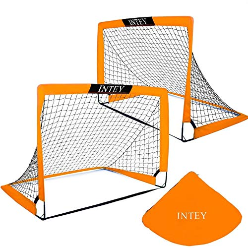 INTEY 6'6''x3'3'' Soccer Goal Portable Soccer Nets with Carry Bag for Games and Training for Kids and Teens