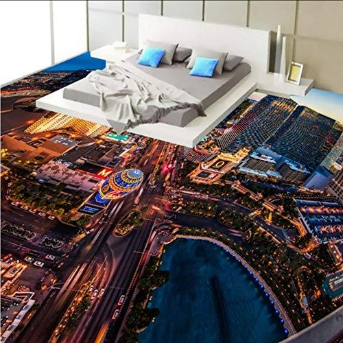 Pbbzl Met blik op winkels steden 3D stereo vloerbedekking woonkamer slaapkamer lobby Studio wallpaper muurschildering 400 x 280 cm.