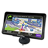 TruckWay GPS - Pro Series Black Edition XL - Truck GPS 9' Inch for Truck Navigation Lifetime North America Maps (USA + Canada) 3D & 2D Maps, Touch Screen, Turn by Turn