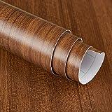JSEVEM Papel de contacto de grano de madera de nogal vinilo Peel and Stick Wallpaper papel pintado autoadhesivo pegatinas de muebles película de la etiqueta engomada de la pared para el armario