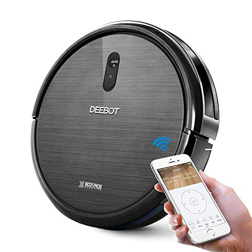 ECOVACS DEEBOT N79 Robotic Vacuum Cleaner with Strong Suction, for Low-pile Carpet, Hard floor, Wi-Fi Connected 13 x 13 x 3.1 inches (Renewed)