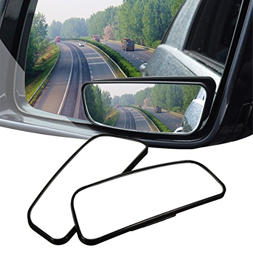 Audew 2 Pack Square Blind Spot Mirror 360° ABS Glass for All Universal Vehicles Car Fit Stick-on...