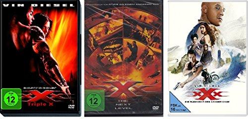 xXx - Triple X (1+2 The Next Level + 3 Die Rückkehr des Xander Cage) im Set - Deutsche Originalware [3 DVDs]