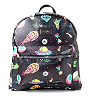 Bioworld Rick and Morty Space Sublimation All-Over Print Ladies Backpack Mochila Tipo Casual 41 Centimeters 20 Negro (Black)