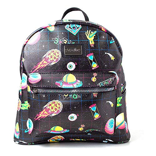 Bioworld Rick and Morty Space Sublimation All Over Print Ladies Backpack Mochila Tipo
