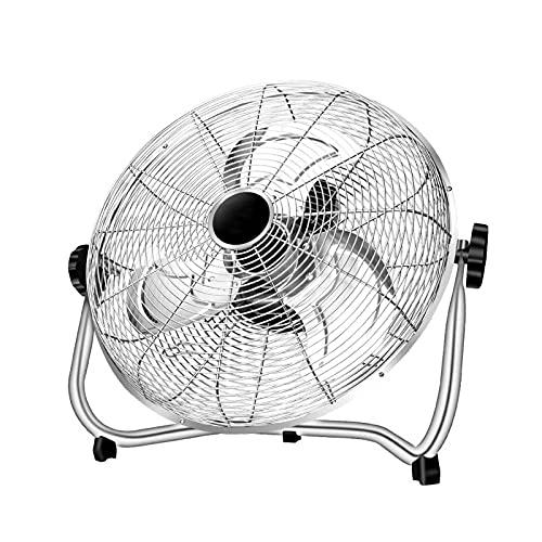 Wgwioo Ventilador De Piso Ajustable, Ventilador De Pared De Piso, Circulador De Aire Frío De Alta Velocidad, para Uso Industrial, Comercial, Residencial E Invernadero,18 Inch