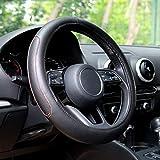 Automix - Fundas para volante de coche, de piel, suaves, antideslizantes y sin olor, tamaño universal 38-40 cm