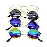 A/N Sunglasses Protección UV desgaste estilo Gafas de sol al aire libre Partido recorrido de la manera de conducción diario fashion (Color : Colorful, Size : 11X4CM)