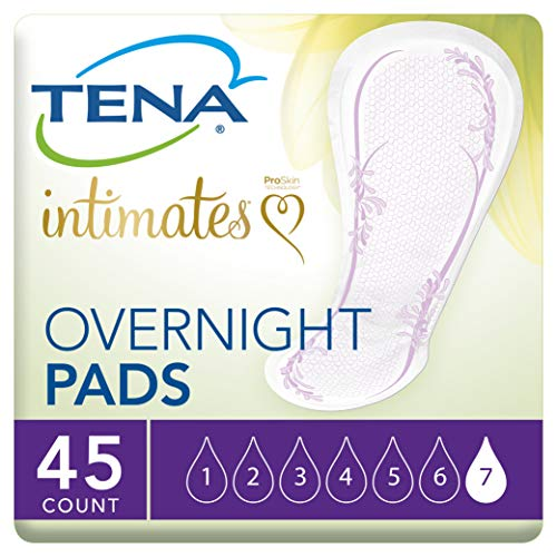 TENA Incontinence Pads for Women, Overnight, 45 Count 1 ea