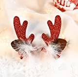 Christmas Decorations Hair Clip Hair Accessories Elk Antlers Hair Clips Party Accessory for Women Girl Cute Santa Hat Crocodile clip-Kids Holiday Gift 4#