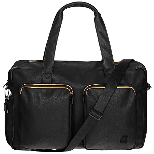 Borsa Borsone Uomo Donna K-Way Bag Men Woman K-Pocket Plus Brieface Black K1C01