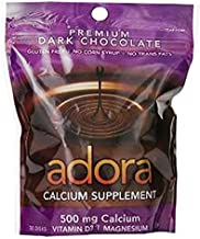Adora Calcium Supplement Disk, Organic Dark Chocolate, 30 Count - Buy Packs and SAVE (Pack of 5)