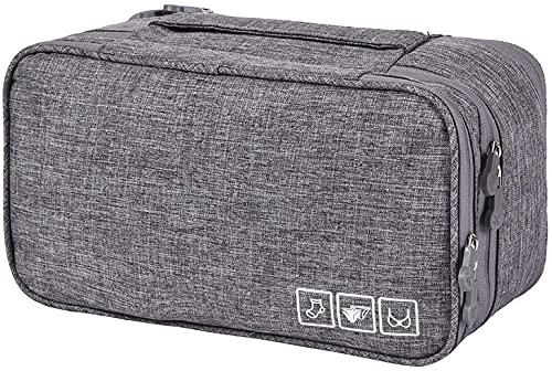 Swadal Aufbewahrungsbox, Unterwäsche Aufbewahrungsbox, BH Schubladen Organizer, Reise Aufbewahrungsteiler, Unterwäsche Stoffbezug, Kleiderschrank Box Tasche (grau)