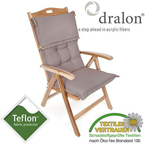 ROG garden-line PL93: dralon® / Teflon™ Premium Auflage FÜR HOCHLEHNER 110 x 50 cm Cappuccino