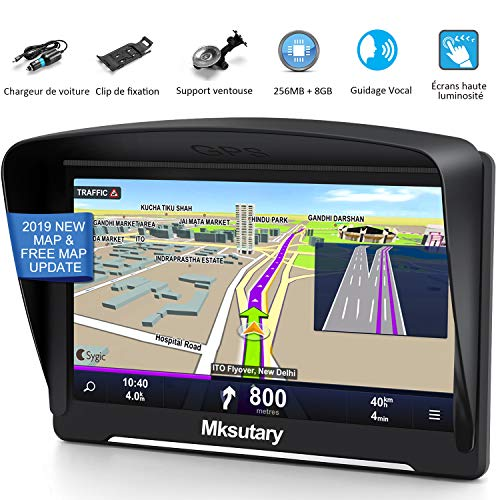 7' GPS Voiture Auto - Cartographie Europe 52 Pays - 7 Pouces...