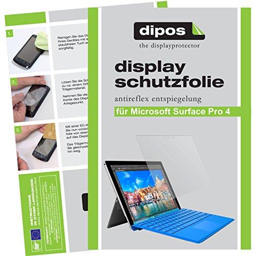 dipos I 2X Schutzfolie matt kompatibel mit Microsoft Surface Pro 4 Folie Displayschutzfolie