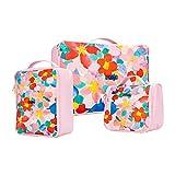 Almacenamiento del equipaje del bolso 3 UNIDS Patrón de Flores Cubos de Embalaje Set Para Viaje Equipaje Organizador Bolsa Bolsas de Compresión Ropa Maleta Para Las Mujeres niña Para la ropa Zapatos R
