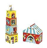 Janod- Multikub 5 Cubi & 5 Personaggi, Circo, J02800