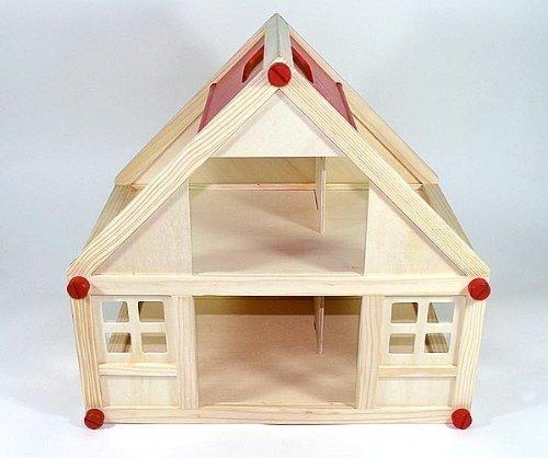 Freda Puppenhaus aus Holz mit 2 Etagen Tragegriff 40x25x38cm Art. GF2153B