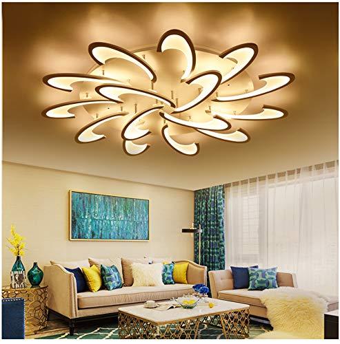 Eurohandisplay LED Deckenleuchte 2127-15 mit Fernbedienung Lichtfarbe/Helligkeit einstellbar Acryl-Schirm weiß lackierte Metallrahmen (2127-15)