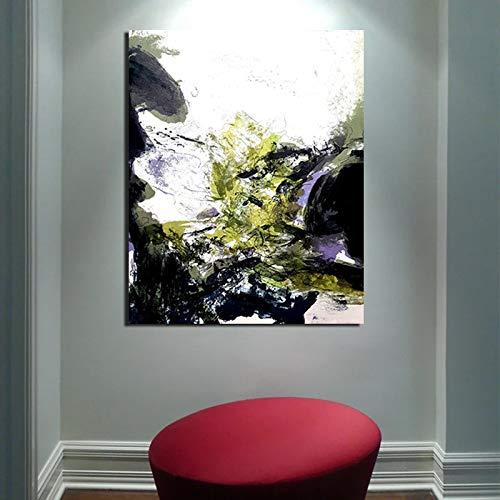KWzEQ Retro abstrakte Plakat Leinwand Malerei Druck Wohnzimmer Hauptdekoration Moderne Wandkunst Ölgemälde Poster,Rahmenlose Malerei,50x60cm
