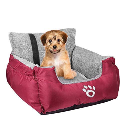 Fristone Autositz für Hunde, mit Sicherheitsleine und Aufbewahrungstasche, für kleine Haustiere, bequem und rutschfest