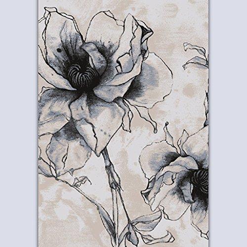 Lying Peinture à l'encre Simple Table basse moderne Salon Chambre Étude Sofa Process Mash Up Art plus épais Tapis Tapis Tapis trouver (Couleur : #2, taille : 140 * 200CM)