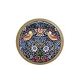 bab William Morris - Collar con colgante de pájaro con diseño de ladrón de fresas y manualidades