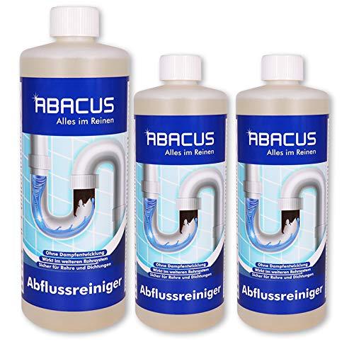 ABACUS 3x 1 L Abflussreiniger/Rohrreiniger - Abacus Gapflow Ultra (7596)
