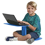 ECR4Kids The Surf Portable Lap Desk, Flexible Seating for Homeschool and Classrooms, One-Piece Writing Table for Kids, Teens and Adults, GREENGUARD [Gold] Certified, Blue (10-Pack)