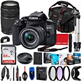 Canon EOS 850D (Rebel T8i) DSLR Camera with 18-55mm STM & 75-300mm III Lens Bundle + Premium Accessory Bundle Including 64GB Memory, Filters, Photo/Video Software Package, Shoulder Bag & More