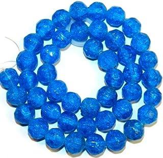 1 Strand BD362 Sea Blue Glass Bead Nuggets