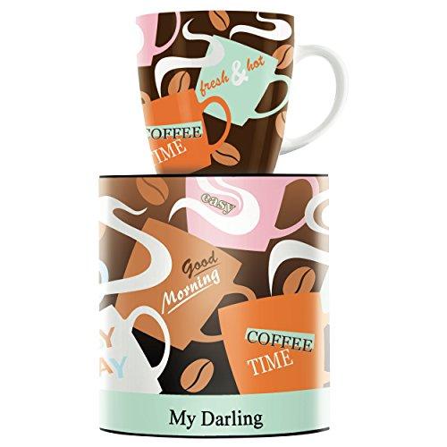 RITZENHOFF My Darling Kaffeebecher von Horst Haben, aus Porzellan, 300 ml, mit trendigen Motiven