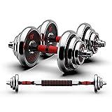 UNKB Barra Set Home Gym Equipment electrochapada con mancuernas Barra Conjunto de hombres, Pesas Gimnasio en casa aptitud del brazo de mano Pesas, Entrenamiento de fuerza Barras de cuclillas Muerto du