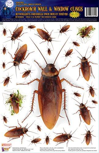Forum Novelties Cockroach Wall/Window Stickers, Brown
