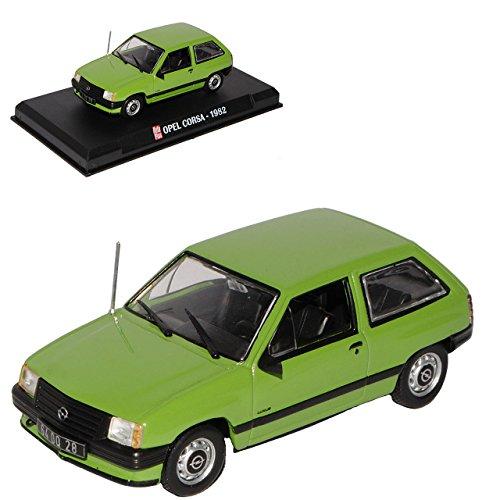 Opel Corsa A 3 Türer Grün 1. Generation 1982-1993 1/43 Modellcarsonline Sonderangebot Modell Auto mit individiuellem Wunschkennzeichen