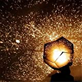 GIVBRO Proyector de galaxia Estrella Proyector Luz Cielo Noche Proyector Estrellado Constelaciones Lámpara para Niños Fiesta Dormitorio Luz Cálida