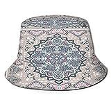 TTLUCKY Sombrero de Pesca,Estilo Alfombra Turca Vector Vintage Transparente,Senderismo para Hombres y Mujeres al Aire Libre Sombrero de Cubo Sombrero para el Sol