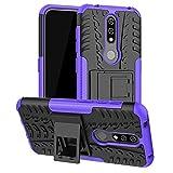 For Nokia 4.2 - Purple Dual Layer Hybrid Tough Rugged Armor