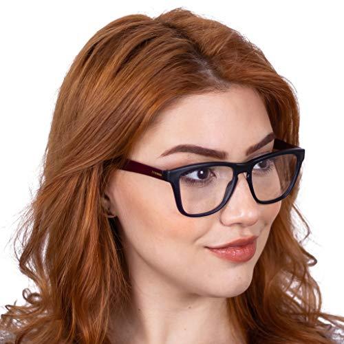 Oculos para Gamer Titans Sierra Preto e Vinho - Lentes Amarelas