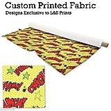 gelb Comic Design Digitaldruck DIM aus Stoff 55
