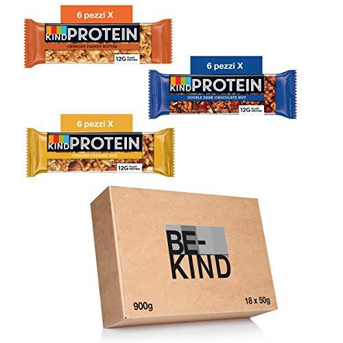 BE-KIND Protein Barretta Proteica, Confezione Mista in 3 Gusti diversi, Snack Proteico Senza...